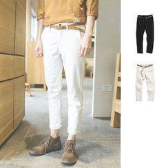 Chuoku - Linen-blend Pants