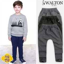 WALTON kids - Kids Elastic-Waist Brushed-Fleece Pants