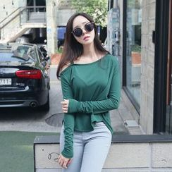 Envy Look - Off-Shoulder Long-Sleeve T-Shirt