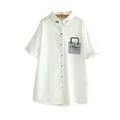 Angel Love - Short-Sleeve Embroidered Shirt
