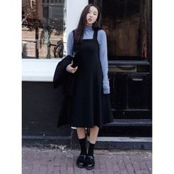 maybe-baby - Cross-Back A-Line Long Dress