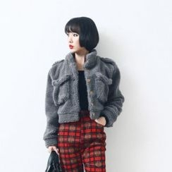 Anlay - Fleece-Lined Loose-Fit Cropped Jacket