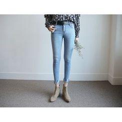 Envy Look - Slit-Hem Skinny Jeans