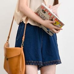 Yammi - High-waist Wide-leg Shorts