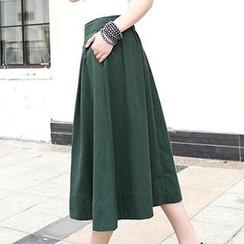 Neeya - Pleated Maxi Skirt