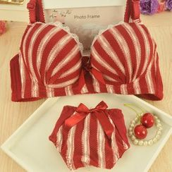 Heart2Heart - Set: Striped Bra + Panties