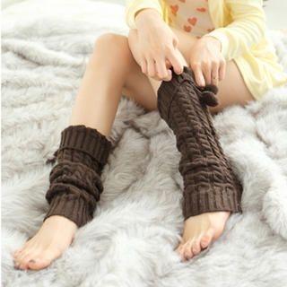 Tokyo Fashion - Pompom-Accent Leg Warmers