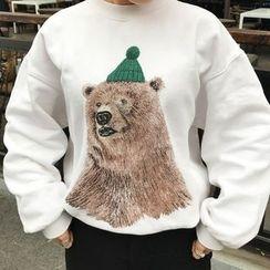 Cloud Nine - Printed Oversized Sweatshirt