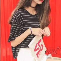 Grainie - Striped Short Sleeve T-Shirt