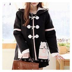 Sechuna - Zip-Up Hooded Coat