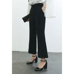 ATTYSTORY - Zip-Front Boot-Cut Dress Pants