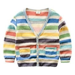 Kido - Kids Striped Button Up Jacket