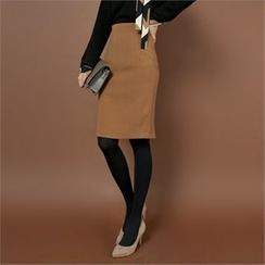 Styleberry - High-Waist Pencil Skirt