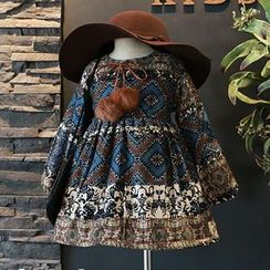 Spring Swallow - Kids Long-Sleeve Printed Dress