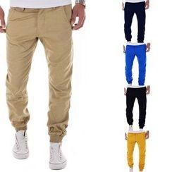 百高 - 纯色低胯裤