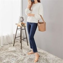 PEPER - Round-Neck Drop-Shoulder Knit-Top