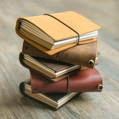 拙木紙品 - 皮質封面記事本 (小型)