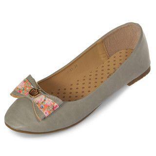 yeswalker - Bow-Accent Ballerina Flats
