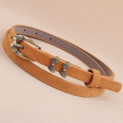 Goldenrod - Bow Accent Slim Belt