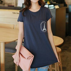 Lina - Pocket Printed T-Shirt