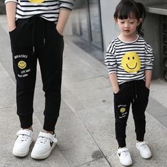 Merry Go Round - Kids Smiley Print Sweatpants