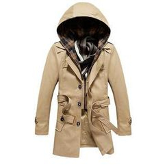 Alvicio - Hooded Belted Trench Coat