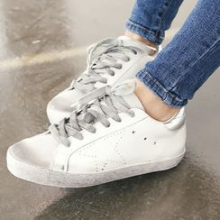 DANI LOVE - Stained Round-Toe Sneakers