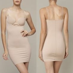 INNE - 純色塑形吊帶裙