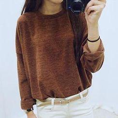 Eva Fashion - Long-Sleeve Round-Neck T-Shirt