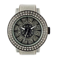 t. watch - Diamond Lens Glass Gray Strap Watch