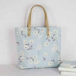 Ms Bean - Floral Canvas Tote