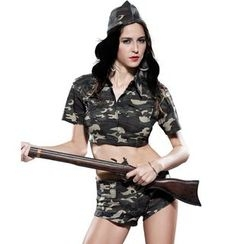 Cosgirl - Camouflage Solider Party Costume