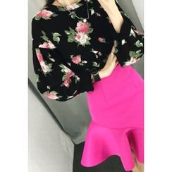ATTYSTORY - Floral-Pattern Drop-Shoulder Top