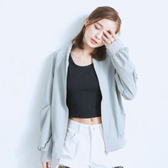 BAIMOMO - Plain Zip Jacket