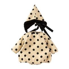 MOM Kiss - Baby Set: Dotted Long Sleeve Top + Pointy Hat