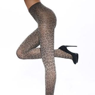 Moonbasa - Leopard-Print Tights