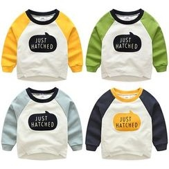 Seashells Kids - Kids Lettering Raglan Long-Sleeve T-Shirt