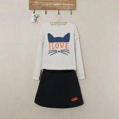 TOJI - 印花衛衣半裙套裝