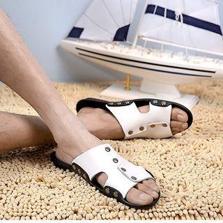 NOVO - Color Block Slide Sandals