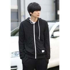 PLAYS - Contrast-Trim Colored Hoodie (17 Colors)