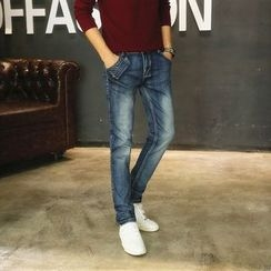La Bleu - Washed Straight Fit Jeans
