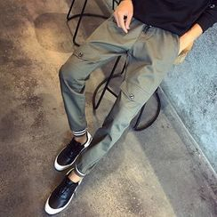 Besto - Drawstring Cotton Pants