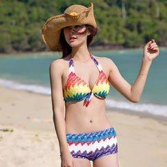 Rachel Swimwear - Rainbow Bikini with Dress