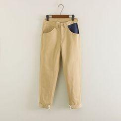 Mushi - Print Straight Leg Pants