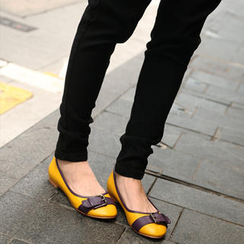 SO Central - Color-Block Buckled Flats