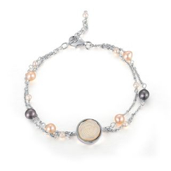 MBLife.com - 925 Sterling Silver Angel White Rose Fresh Water Pearl Bracelet