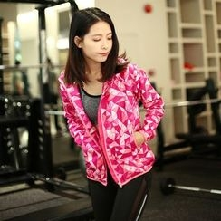 Quintina - Patterned Sports Zip Jacket
