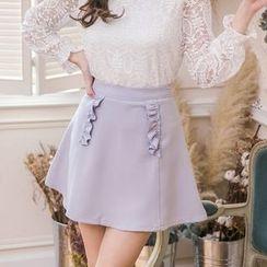 东京著衣 - 荷叶裙裤