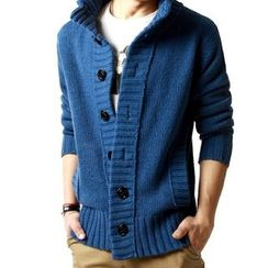 Hansel - Stand Collar Cardigan