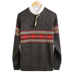 Seoul Homme - Patterned Knit Top